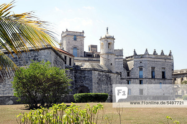 Kastell  Castillo de la Real Fuerza  historische Altstadt von Havanna Zentrum  Habana Vieja  Kuba  Große Antillen  Karibik  Mittelamerika  Amerika