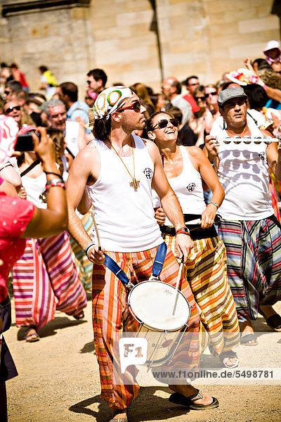 Samba-Musiker  Samba-Festival  Coburg  Bayern  Deutschland  Europa