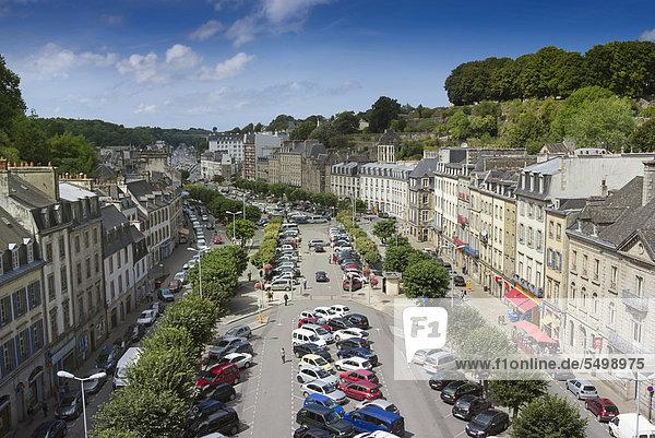 Frankreich Europa über Stadt Ansicht Bretagne Finistere