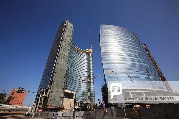 Die modernen Wolkenkratzer im Bau in Porta Nuova  Mailand  Italien