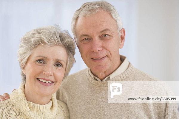 Close up of senior Couple smiling