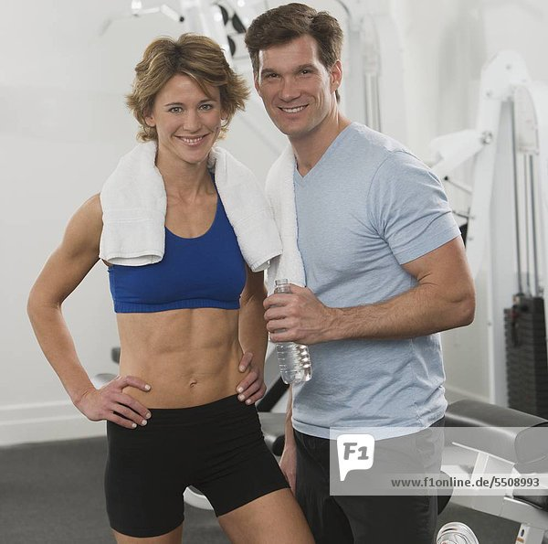 Portrait of couple at gym