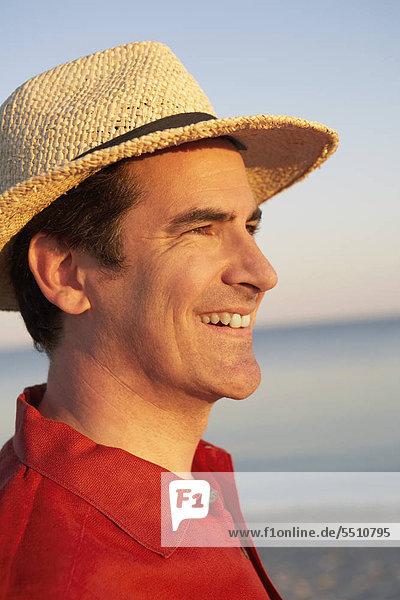 Mann lächeln Close-up reifer Erwachsene reife Erwachsene