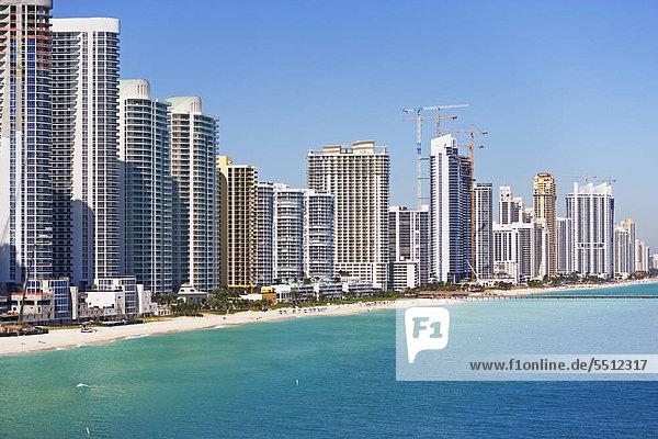 Eigentumswohnungen entlang  Fort Lauderdale  Florida  Vereinigte Staaten