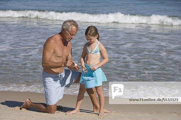 Strand Menschlicher Vater Tochter