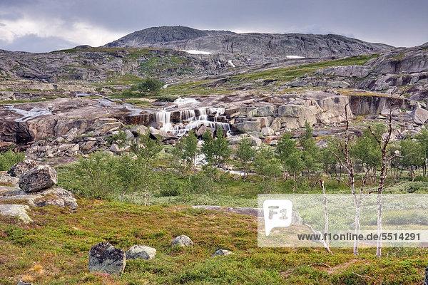 Berglandschaft  Rago-Nationalpark  Nordland  Norwegen  Skandinavien  Europa