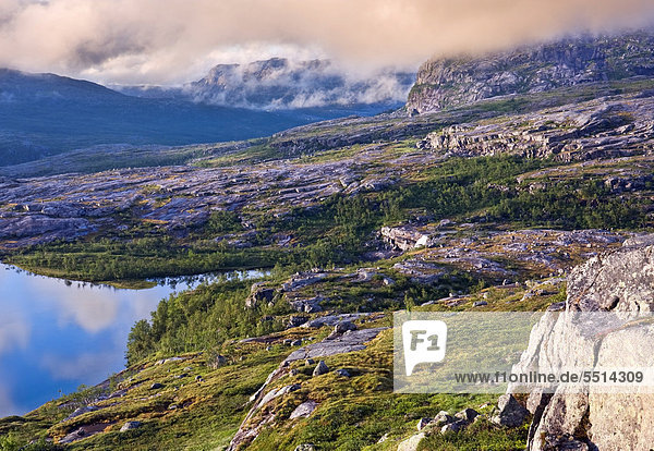 Landschaft im Rago-Nationalpark  Nordland  Norwegen  Skandinavien  Europa