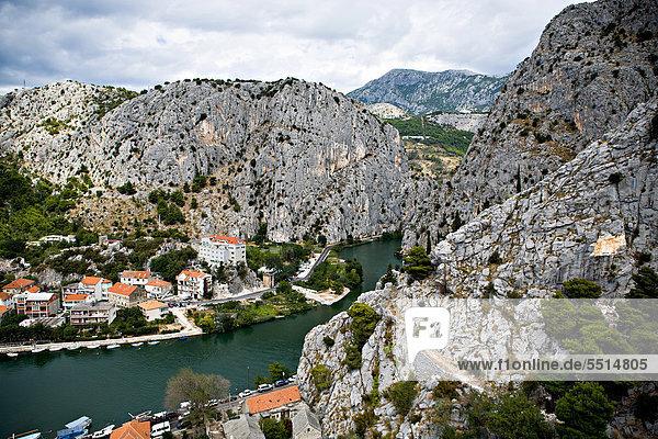Küste Stadt Adriatisches Meer Adria alt