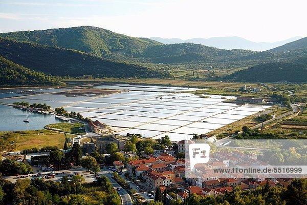 Produktion  Stadt  Kroatien  Speisesalz  Salz