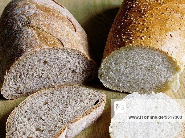 Brot  Gesundheit  weiß  braun