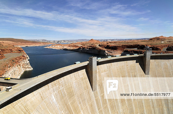 Glen Canyon Dam  Lake Powell Dam  Arizona  USA  North America