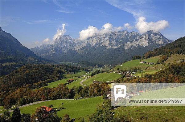 Europa Ramsau bei Berchtesgaden Bayern Deutschland Oberbayern