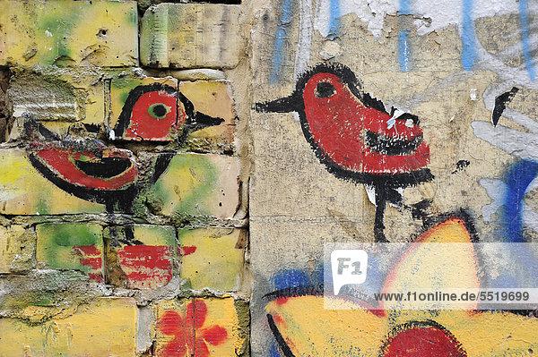 Europa Vogel Veranda Deutschland Graffiti Street-Art Straßenkunst