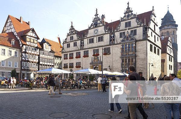 Altstadt  Rathaus am Markt  Hann. Münden  Niedersachsen  Deutschland  Europa