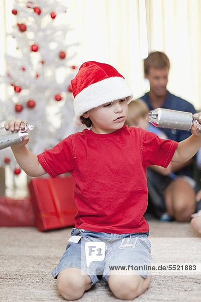aufmachen Junge - Person Weihnachten Cracker