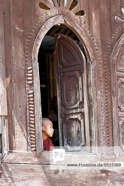 Fenster Südostasien Myanmar Asien Kloster Mönch
