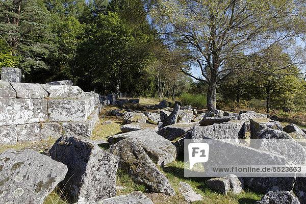 Gallisch-römische Grabungsstätte von Les Cars  Saint Merd les Oussines  Parc Naturel Regional de Millevaches en Limousin  Regionaler Naturpark Millevaches en Limousin  DÈpartement Correze  Frankreich  Europa