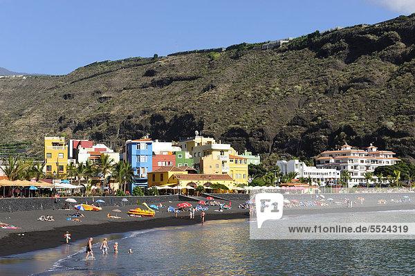 Beach of Puerto de Tazacorte  La Palma  Canary Islands  Spain  Europe  PublicGround