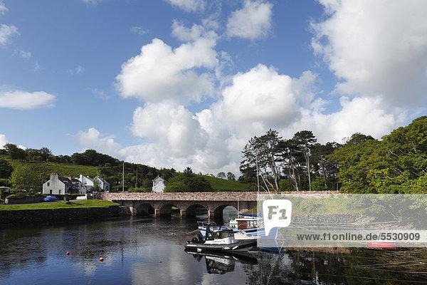Fluss Glendun in Cushendun  County Antrim  Nordirland  Großbritannien  Europa  ÖffentlicherGrund