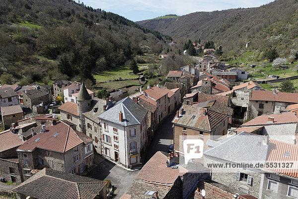 Village of Blesle  labelled Les Plus Beaux Villages de France  The most beautiful villages of France  Haute Loire  Auvergne  France  Europe