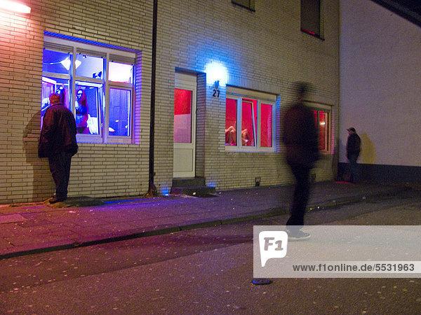 Prostitution  Bordellstraße  Oberhausen  Ruhrgebiet  Deutschland  Europa