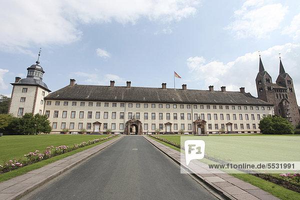 Ehemalige Abtei und Schloss Corvey in Höxter  Weserbergland  Nordrhein-Westfalen  Deutschland  Europa