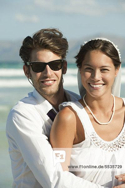 Brautpaar am Strand  Portrait