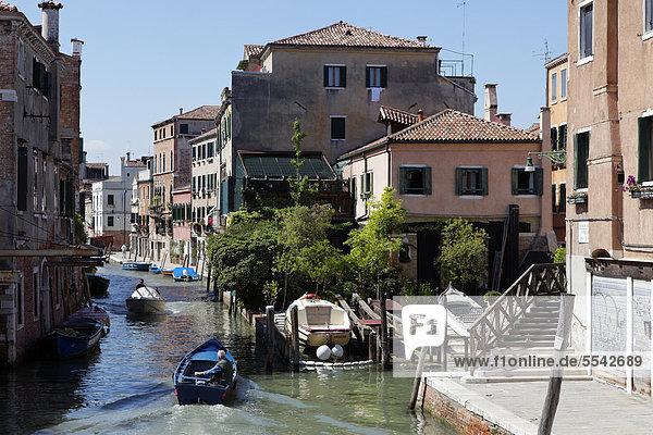 Stadtteil Cannaregio  Venedig  UNESCO Weltkulturerbe  Venetien  Italien  Europa