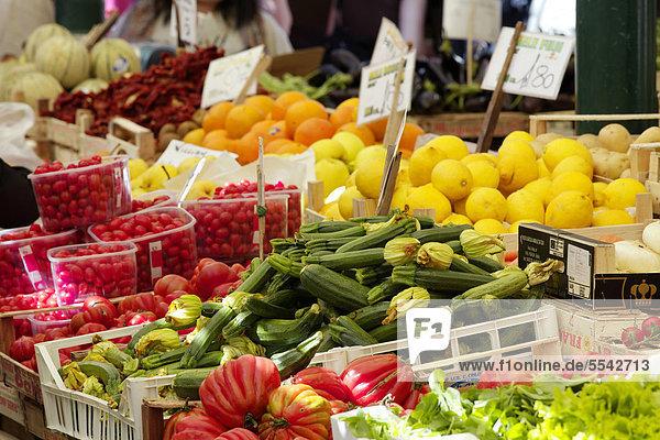 Rialto-Markt  Stadtviertel San Polo  Venedig  Venetien  Italien  Europa