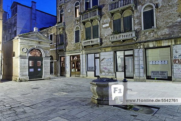 Castello district by night  Venice  UNESCO World Heritage Site  Venetia  Italy  Europe