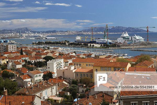 L'Estaque neighborhood  Marseille  Bouches-du-Rhone  Provence  France  Europe