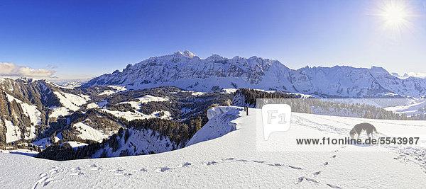 Panorama Europa Berg Schweiz