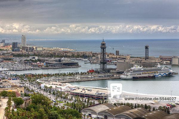 Europa über Ansicht Barcelona Katalonien Spanien
