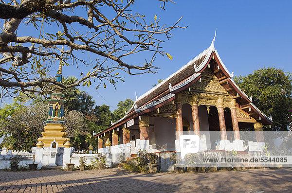 Wat Sop Sickharam Tempel  Luang Prabang  UNESCO-Weltkulturerbe  Laos  Indochina  Asien