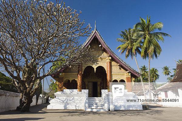 Wat Sirimoungkhounsayaram Tempel  Luang Prabang  UNESCO-Weltkulturerbe  Laos  Indochina  Asien