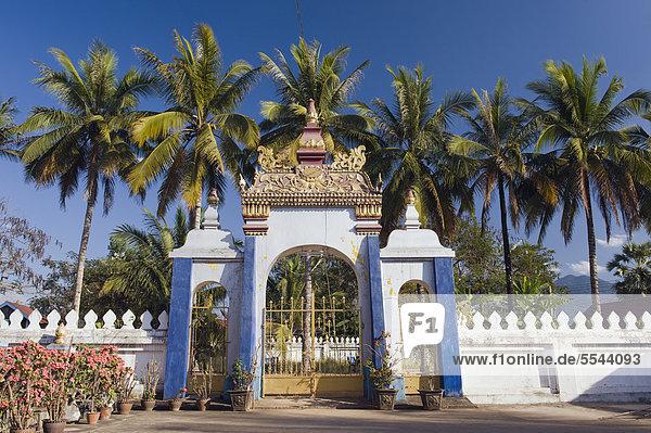 Wat Puthabat Tempel  Luang Prabang  UNESCO-Weltkulturerbe  Laos  Indochina  Asien