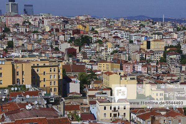 über Großstadt Turm Ansicht Istanbul Türkei