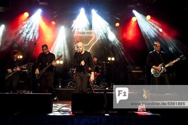 German band Sep7ember performing live in the Schueuer concert hall  Lucerne  Switzerland  Europe