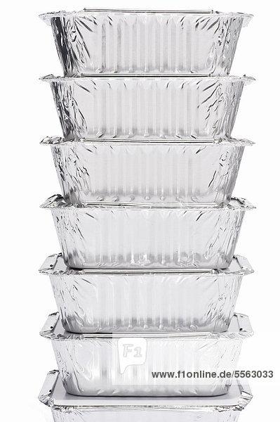 Ein Stapel von Folien Lebensmittelbehälter