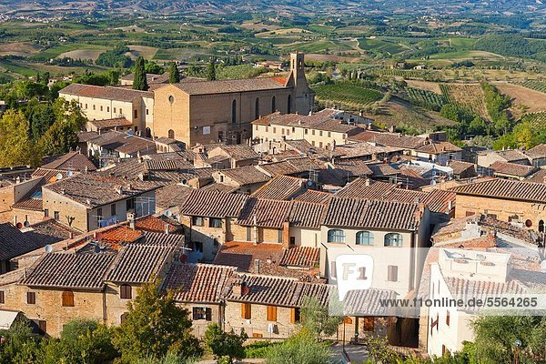 Europa Italien San Gimignano Toskana
