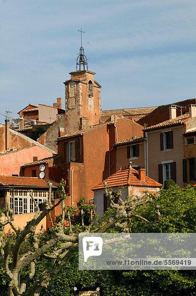 Frankreich Europa Schönheit Dorf Provence - Alpes-Cote d Azur Etikett Luberon Vaucluse