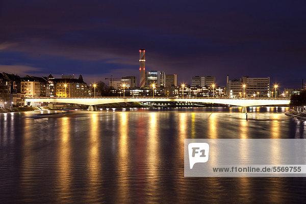 überqueren Europa Brücke Fluss Basel Schweiz