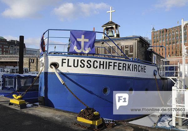 Flussschifferkirche im Hamburger Hafen  Hamburg  Deutschland  Europa Flussschifferkirche im Hamburger Hafen, Hamburg, Deutschland, Europa