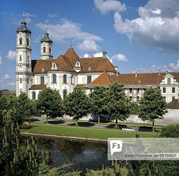 Basilika der Benediktinerabtei Ottobeuren  Unterallgäu  Schwaben  Bayern  Deutschland  Europa