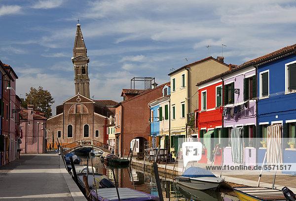 Europa Kirchturm Burano Italien