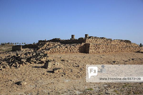 Siedlungsreste der Stadt und Weihrauchhafen Al-Baleed  Unesco Weltkulturerbe  Salala  Salalah  Oman  Arabische Halbinsel  Naher Osten