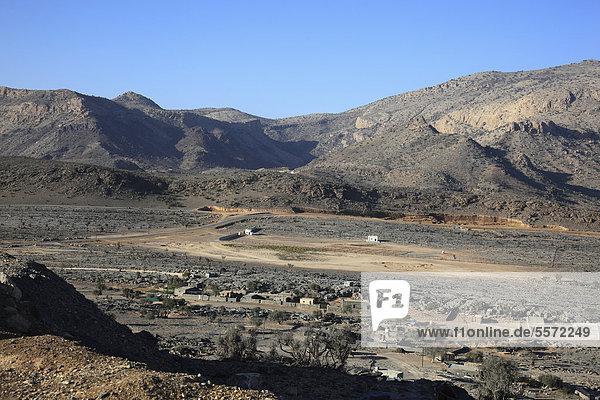 Landschaftsformation am Jebel Shams  Oman  Arabische Halbinsel  Naher Osten
