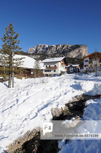 Trentino Südtirol Europa Italien Grödnertal