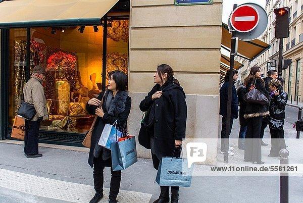 Paris  France  Luxury Shops on Rue Faubourg Saint Honoré  Hermés Shop