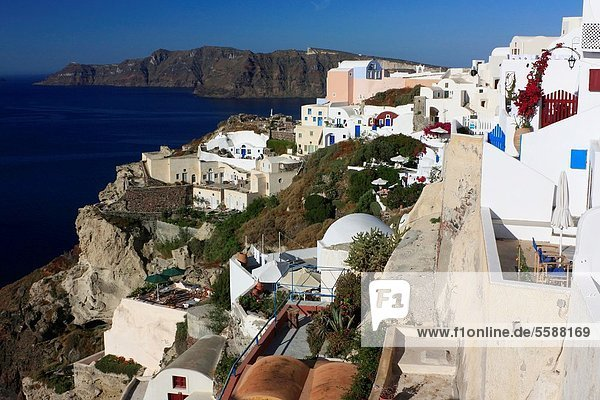Traditional Houses in Oia,  Santorini,  Cyclades,  Greece